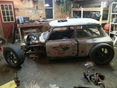 Badass Mini Cooper rat rod..