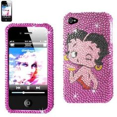 BETTY BOOP Premium Bedazzled Diamond Bling Rhinestone Protector Cover APPLE IPHONE 4/4S (BLOWING KISS ON PINK BACKGROUND) + Betty Boop Novelty Collectible Million Dollar Bill by Betty Boop. $9.99. Protect and personalize you phone with this original Betty Boop rhinestone cover. Case is 2 pieces, front and back with precise openings for all buttons, charging and music functions. This unique and attractive case will protect your phone from accidental damage while givi...