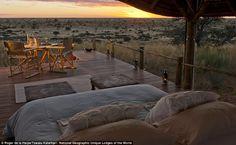 Guests can bed down amidst the wildlife in the savanna on an intimate safari atTswalu Kalahari,  in Kalahari, South Africa