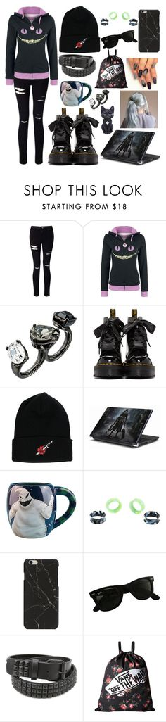 """""""Meh ( ^ω^)"""" by punk101love ❤ liked on Polyvore featuring Miss Selfridge, Oscar de la Renta, Dr. Martens, Ray-Ban and Vans"""