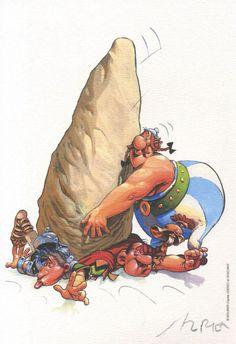 Asterix / Hommage de Mourier Animated Cartoon Characters, Cartoon Art, Asterix E Obelix, Caricatures, Ligne Claire, Fun Comics, Animation Film, Comic Artist, Comic Character