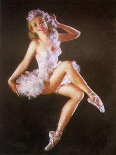 Vintage Ballerina Pin-up Girl