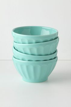 $5 each at Anthropoligie store. Mix the orange and seafoam to contrast with our white dishes.