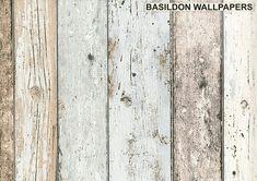 Wood Panel Pale Blue/Brown/Beige - 8550-39 - Wallpaper