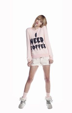 """""""I Need Coffee"""" shirt for people who like to tweak out by Wildfox Couture ($108)."""