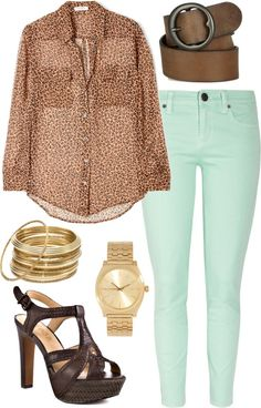"""""""mint jeans   outfit two"""" by boxandbrownie on Polyvore"""