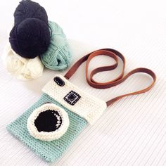 Crochet camera knitted by me.