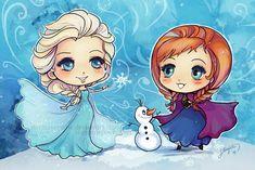 Frozen Elsa and Anna by StarMasayume on deviantART