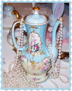 Tea Cottage Pretties: SCHOOLS STARTING, A PURSE OF MY OWN AND #22 LIMOGES CHOCOLATE POT