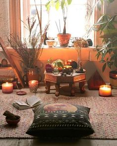 "371 Likes, 5 Comments - Bohemian/Hippie goods w Love (@kismetcollections) on Instagram: ""Such a nice sacred space ✨ Do you have one too? ☺ . . [Found on Pinterest]"""