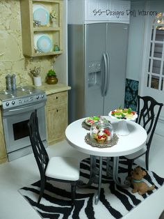 Barbie Dollhouse Kitchen view 2 by SS-Designs Doll Interiors, via Flickr 1:6th scale