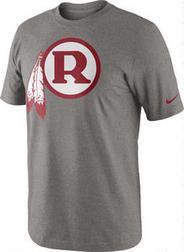 Washington Redskins Grey Nike Historical Logo T-Shirt at Modell's