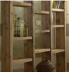 Startling Useful Tips: Temporary Room Divider Beds room divider kitchen bookcases.Small Room Divider Shelving Units kallax room divider home. Room Divider Shelves, Sliding Room Dividers, Salon Shelves, Wood Room Divider, Wood Shelving Units, Rustic Shelving, Rustic Bookshelf, Shelving Ideas, Kallax