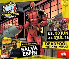Salva Espín, autor gráfico de Deadpool.