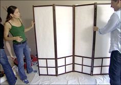 Rice paper screen DIY, so much cheaper than purchasing one