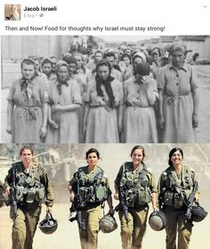 The Israeli soldiers are the granddaughters of the four women in the front of the line in a Nazi concentration camp. Never Again. Roi Mohamed 6, Holocaust Memorial Day, Idf Women, Les Fables, Jewish History, Jewish Art, Israel History, Brave Women, Shabbat Shalom