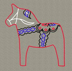 Dala horse colors.