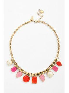 Kate Spade Boardwalk Stroll Multi Stone Frontal Necklace $75