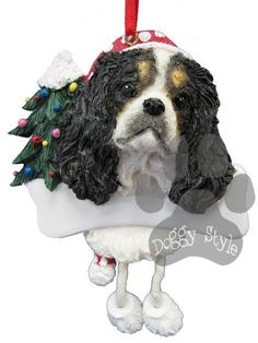 Dangling Leg Cavalier King Charles Spaniel Tri Color Dog Christmas Ornament http://doggystylegifts.com/products/dangling-leg-cavalier-king-charles-spaniel-tri-color-dog-christmas-ornament