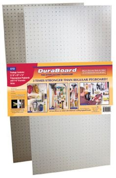 Triton Products(2) 22 In. W x 18 In. H x 1/8 In. D White Polypropylene Pegboards with 3/16 In. Hole Size