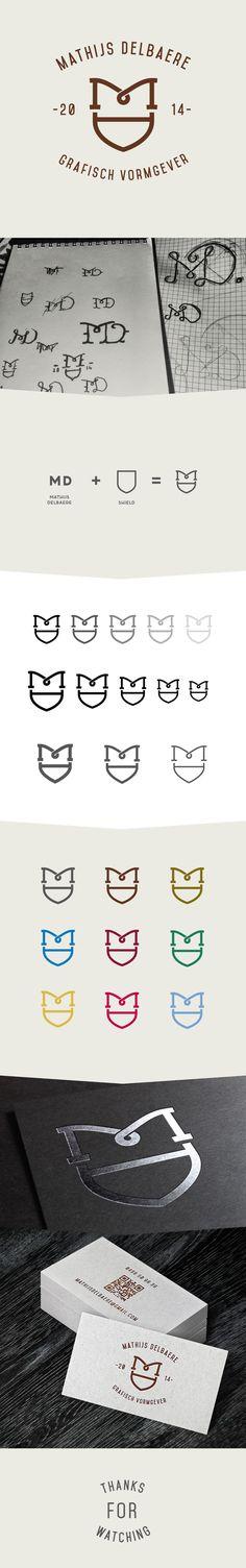 personal logo design on Behance