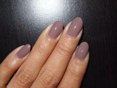 nude oval stiletto nails