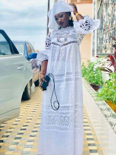 gamou 2018 2 Best African Dresses, Latest African Fashion Dresses, African Print Dresses, African Attire, Long Gown Design, African Inspired Fashion, Fashion Wear, Traditional Outfits, Pretty Dresses