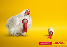 DHL is always #first! Hilarious print advertisement.