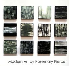 Poetic 12 in Black, White, Silver - Painted Wood Wall Art Abstract