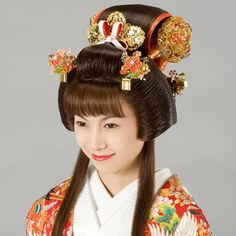 Japan, Edo Era, Fukiwa Hairstyle: Worn by princesses and other nobility. Also worn by characters in traditional theater such as Shizuka Gozen and Princess Yaegaki. Modeled on a style worn by women who were engaged or had a pre-arranged marriage partner. Thought to have inspired the Katsuyama style, and later evolved into the Maru Mage rounded style.