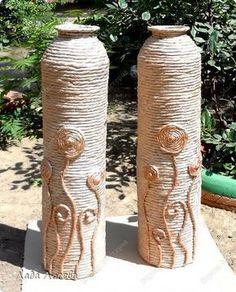 Produto de classe Mestre de Artesanato 8 de março Dia de aniversário frascos Modeling projeto de argila do Dia das Mães Professor Vasos Pintura desperdício de material tecido foto 1