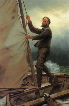 ⚓♡salt air⛵ The Coming Squall by John George Brown, (British/American 1831-1913)