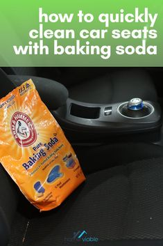 Clean your car seats with baking soda with this DIY carpet cleaning hack. This all natural remedy will have stains, dirt, and dust up out of your auto seats in not time #homeviable #carcleaning #bakingsoda #allnatural #DIY Car Upholstery Cleaner, Car Seat Upholstery, Cleaning Car Upholstery, Seat Cleaner, Diy Carpet Cleaner, Clean Cloth Car Seats, Cleaning Leather Car Seats, Car Cleaning Hacks, Car Hacks