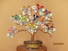 Money Tree, A gift for my Mother's 80th Birthday!