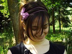 Fascia per capelli all'uncinetto
