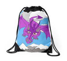 whimsical sky dragon Drawstring Bag