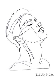 """Gaze 380?, continuous line drawing by Boris Schmitz"