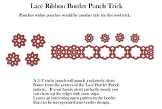 Lace Ribbon Border Punch Trick Jean Fitch