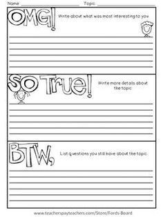 note taking template pdf - Google Search