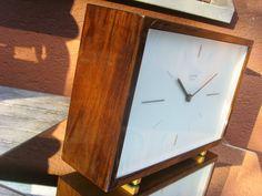 TOP Elegant 1962 Junghans Table Mantle Clock MAX Bill ERA Extreme Rare Function | eBay