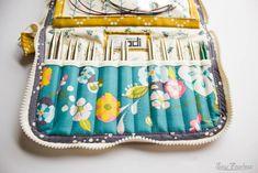 Leather Interchangeable Knitting Needle Case