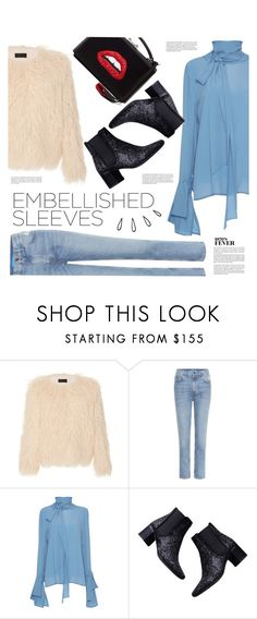 """Embellished Sleeves"" by agnesfrs ❤ liked on Polyvore featuring Nili Lotan, M.i.h Jeans, Dice Kayek, Zara, Whiteley, Old Navy and embellishedsleeves"
