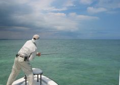 Fly fishing in the Keys.