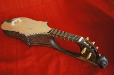 Citole reproduction made by luthier Carlos González in 2012. http://earlyguitar.ning.com/forum/topics/medieval-citole-for-sale