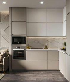 Kitchen Room Design, Home Decor Kitchen, Apartment Interior, Decoration, Living Room Decor, Interior Decorating, Kitchen Cabinets, House, Kitchens