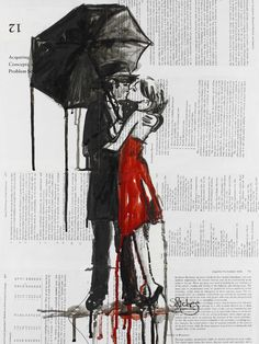 """Saatchi Online Artist: Sara Riches; Ink 2013 Drawing """"Kiss Me Once More"""" #art"""