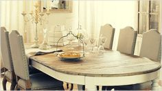 Wood top dinning table