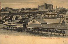 Château Frontenac and Citadel, Quebec Ville, Quebec, 1912 - Postcard Montreal Ville, Quebec Ville, Chute Montmorency, Chateau Frontenac, Le Petit Champlain, Postcards For Sale, Canada, Belle Villa, Quebec City