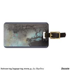 Suitcase tag, luggage tag - with painting by J. Baumeister (www.jenniferbaumeister.com)
