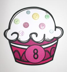 Let's count! This is a fun and colorful way to teach your students how to count. Use buttons as sprinkles for the cupcakes or muffins.